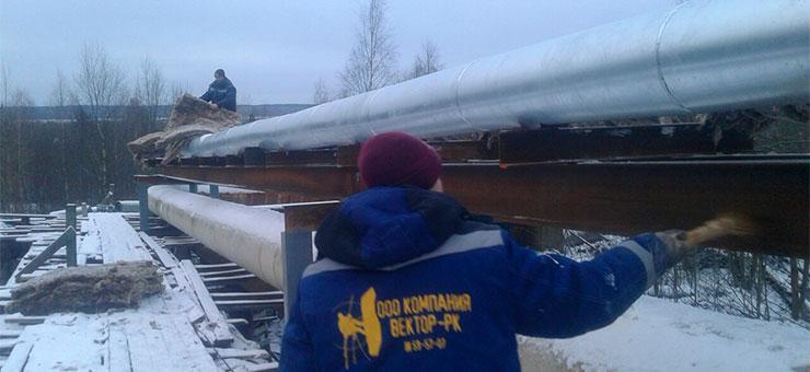 Тепловая изоляция трубопровода