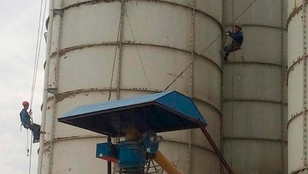 Текущий ремонт силосов и бункеров